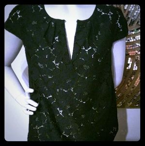 J Crew Navy Blue Lace Blouse Small Size 4